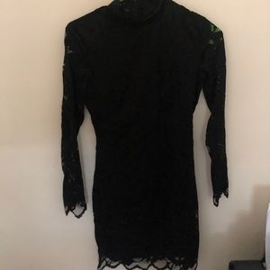 H&M Black Lace Collared Dress